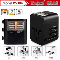 JY-304 Office promotion gift electronic gifts adapter with pouch wall socket with usb port travel charger adapter