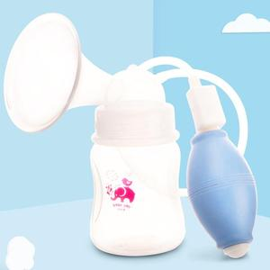 New manual breast feeding pump with air valve control and wide neck baby bottle