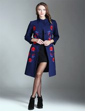 Promotion women dress long sleeve flower embroidered women casual dress
