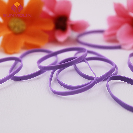 Purple waterproof durable tpu/rubber elastic plastic hair band