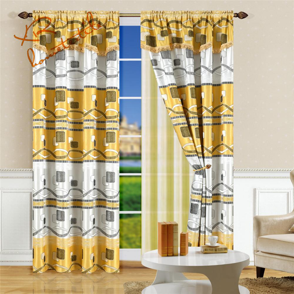 curtain factory european style double layer custom valance curtains designs jacquard curtain