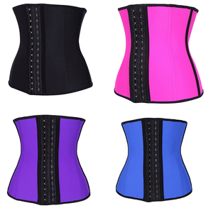 cd097faa103 China supplier custom breathable fabric 3 hook latex cincher woman trainer  waist corset with plus size