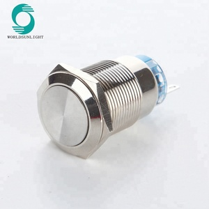 19mm Metal Self Lock Fan Push Button Switch Panel on-off Switch for Car Lorry Boat