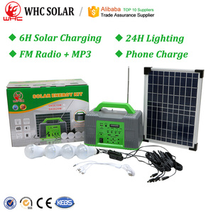 Portable Complete PV Panel Energia System Camping Lamp Light Power Mini Generator Home Lighting Solar Energy Kit With Battery