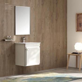 Thin Bathroom Vanity White Cabinet 540mm
