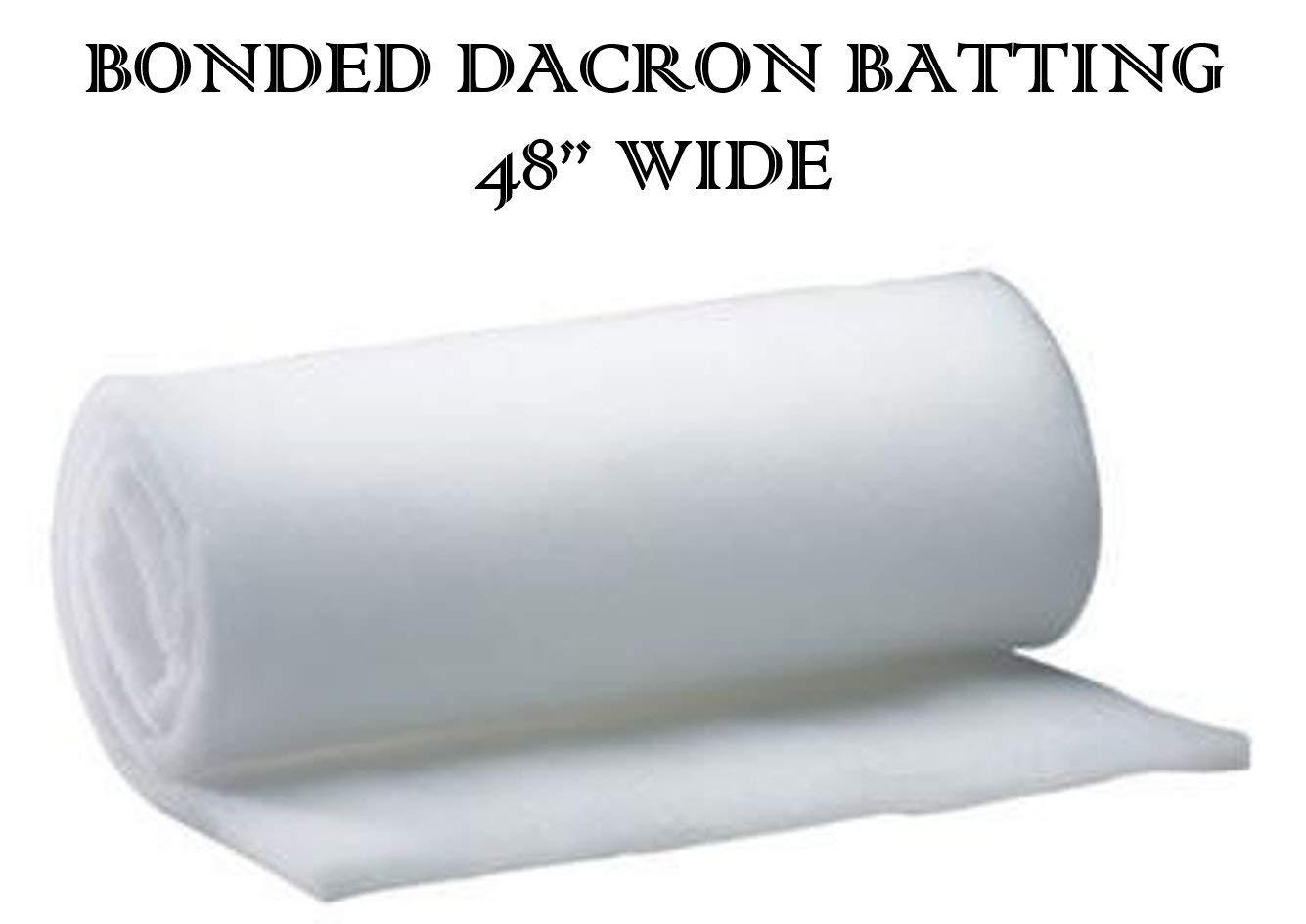 BayTrim Bonded Dacron Upholstery Grade Polyester Batting 48 Inch Wide. 1 Yard