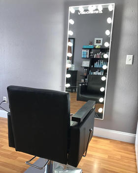 Modern Full Length Large Dressing Mirror With Lighted Led Bulb Floor
