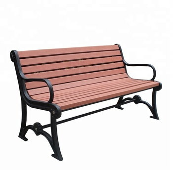 Antique Cast Iron Garden Bench Legs With Wood Slats For