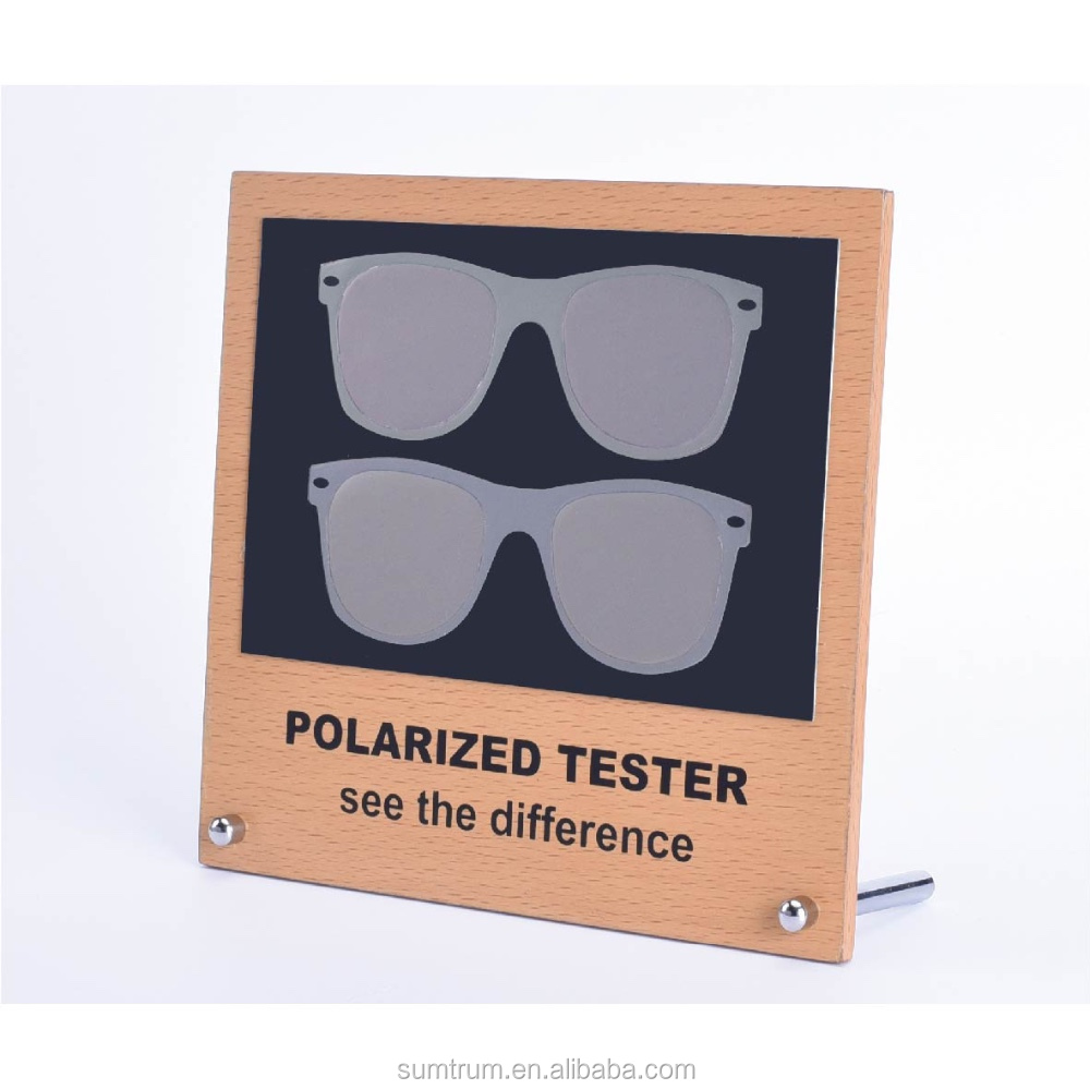 bf0b733acee1 Polarized Sunglasses Test Card with MDF display - Rainbow tester polarized  lens test picture