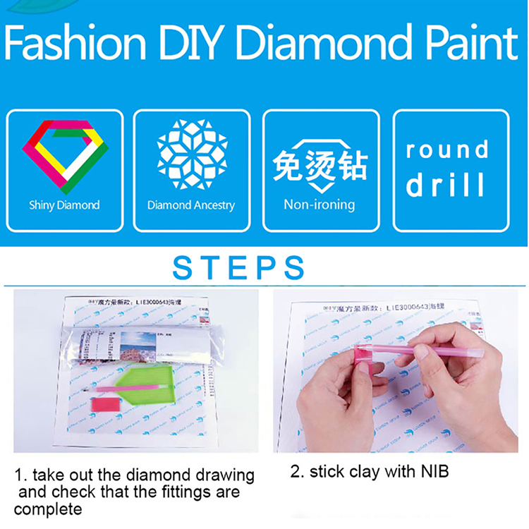 Pineapple card round or square drill diamond embroidery kits home decoration gift DIY full diamond painting organizer zhui star