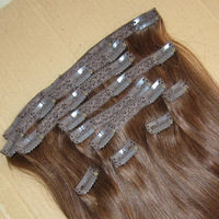 Full head Set 160g 20inch Clip In Human Hair Extension, Brazilian Remy wholesale