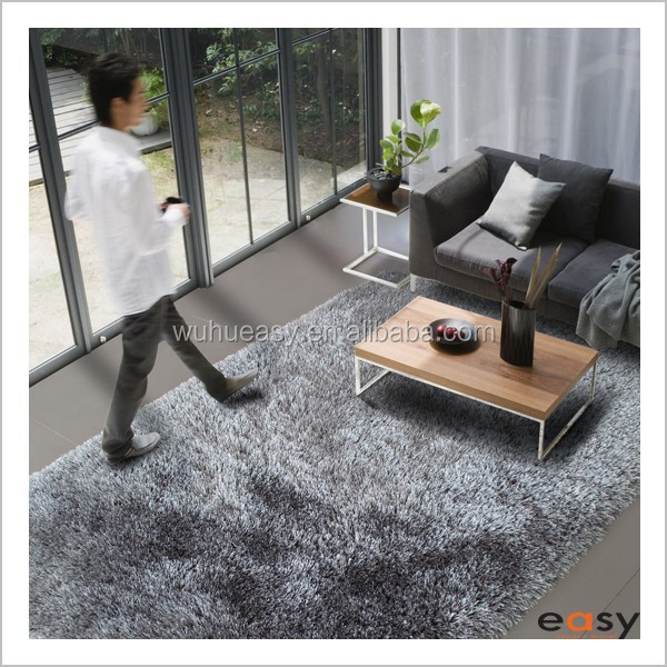 High grade wall to wall microfiber shaggy rug