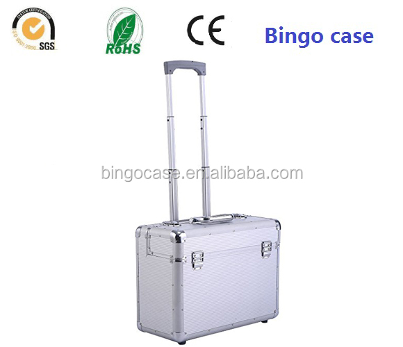 Aluminum Rolling Trolley Suitcase Carry-on Briefcase