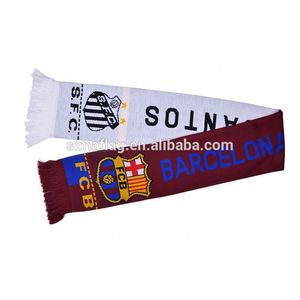 High quality football men acrylic scarf