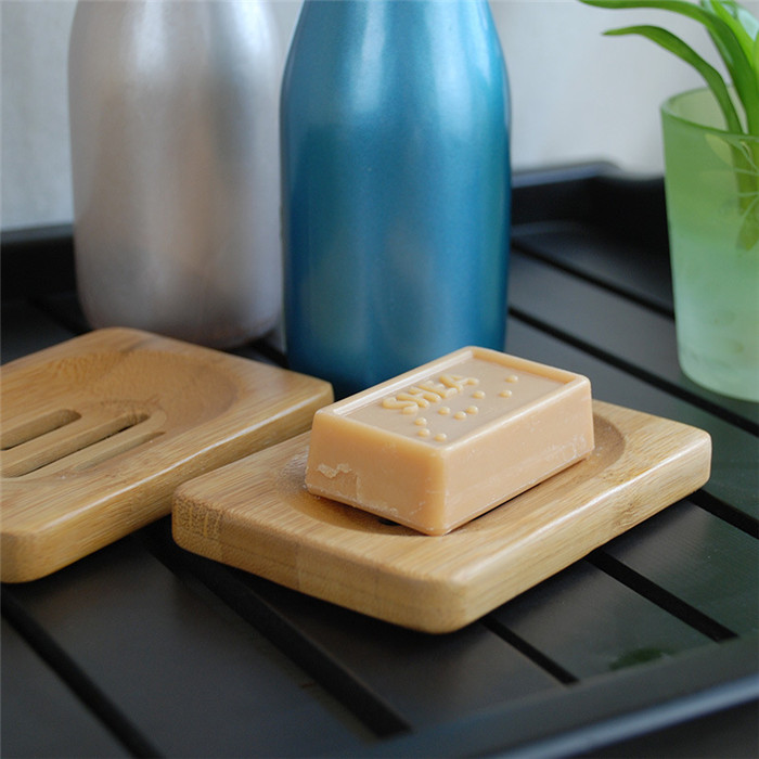 Bathroom bamboo Soap Dish soap Tray/Holder/Rack/Plate for Bath Shower