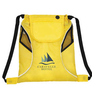 High quality custom printing promotional nylon duffel drawstring sport bag