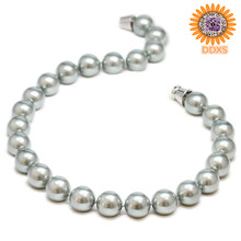 fashion green grey pearl necklace , pictures of beaded necklaces 2012