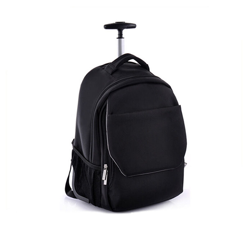 Top Quality Outdoor Nero Zaino Computer Bag Trolley con Scomparto per Laptop