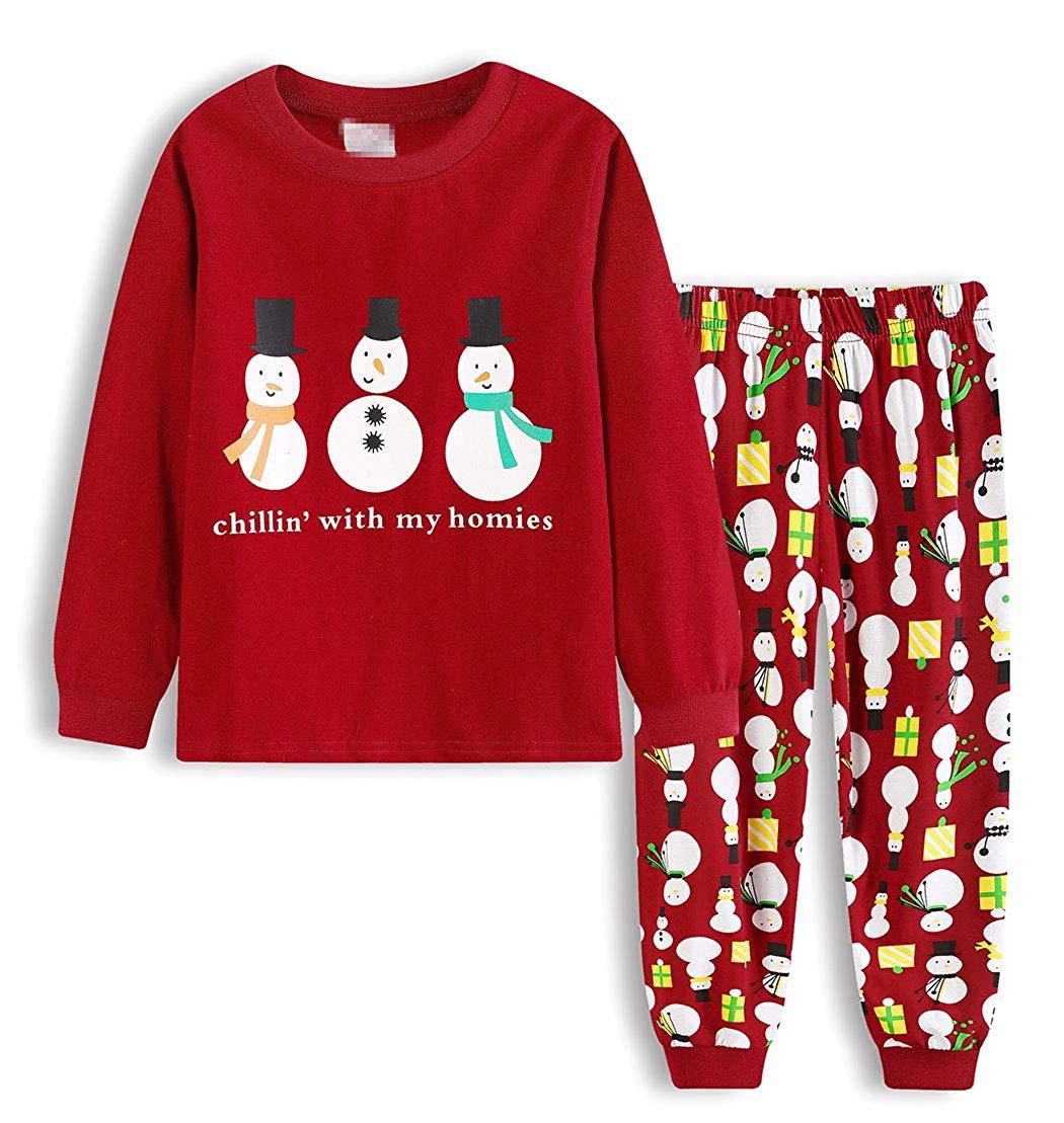 Get Quotations · AmzBarley Christmas Pajamas Sets Long Sleeve Cotton Xmas  PJS Toddler Kids Sleepwear Age 1-7 8c05a0cec
