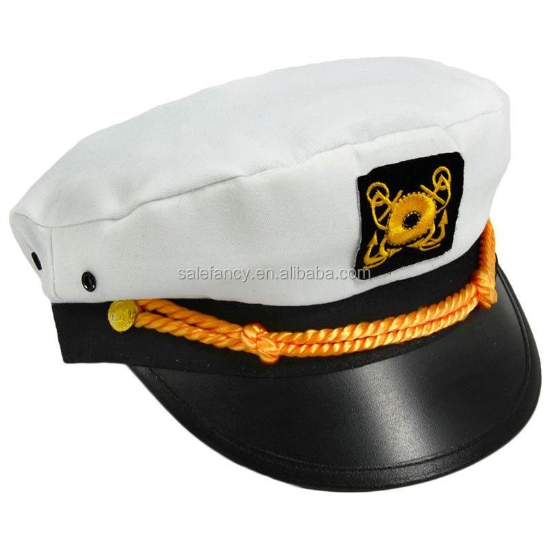 e21d7b9ecfd With white color unique model men military army office uniform captain  sailor navy hats captain hat