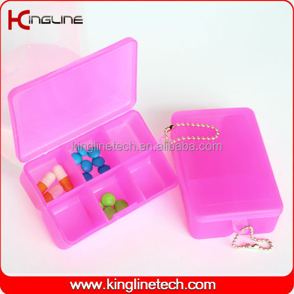 Plastic square cute weekly pill box (KL-9064)