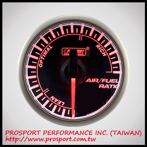 PROSPORT 45mm Analog Gauge Series Black Face Air/Fuel Ratio AFR Auto Gauge Auto Meter