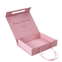 Custom Packaging Folding Luxury Magnetic Large Rose Gold Plain Paper Cardboard Gift Box