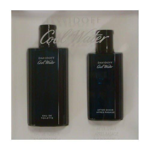 Cool Water Cologne By Davidoff, Gift Set - 4.2 Oz Eau De Toilette Spray + 2.5 Oz After Shave Splash, 100% Authentic