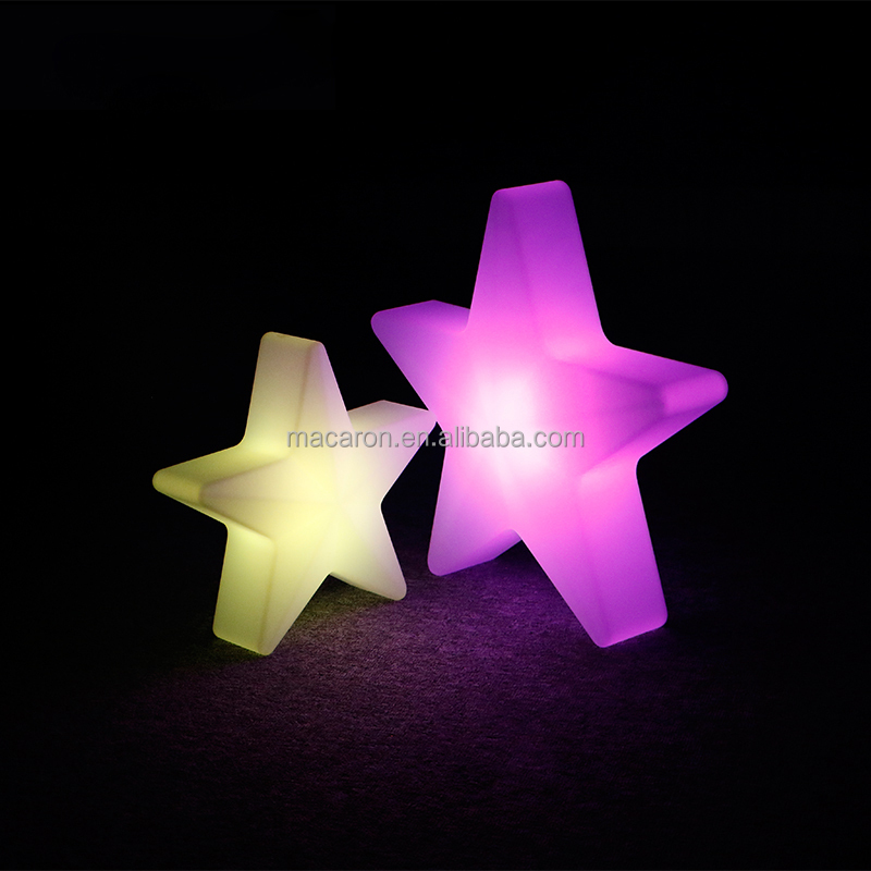 Illuminated Indoor Decoration Large Decorative Plastic Stars Led Five-Pointed Lighted Star