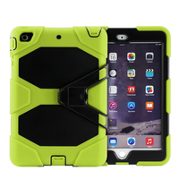 Alibaba wholesale PC+Silicone hybrid waterproof case cover for ipad mini 4 with kickstand case