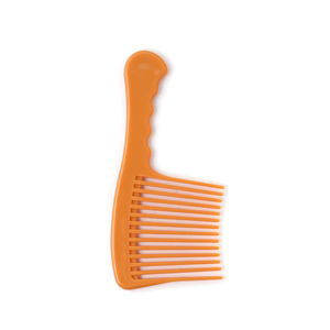 Xinlinda brand plastic extra large wide teeth salon orange hair comb