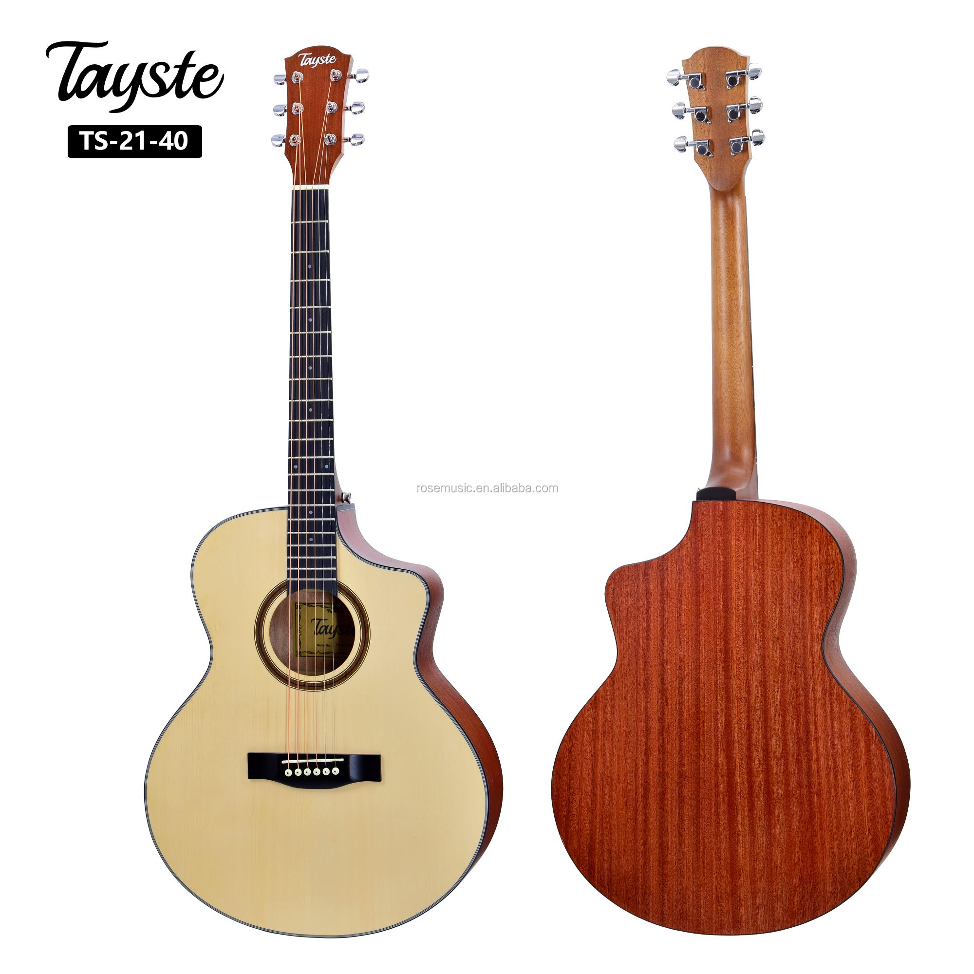 hot selling tayste inch oem handmade acoustic guitar made in