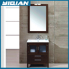 Fashion Solid Wood bathroom vanities Cabinets with Double handle faucetYQ-7098