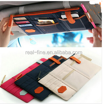 Best Price colorful Car Sun Visor Storage Point Pocket Documents Organizer Bag Pouch Card Holder Credit Card Namecard pen