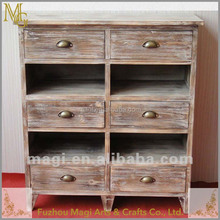 French style multi drawer shabby furniture wooden cabinet