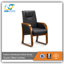 Hot sale solid wood leather meeting chair visitor chair GAC0030