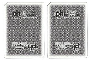 1 Deck Planet Hollywood Casino Playing Cards Used In Real Casino - Free Bounty Button Kit