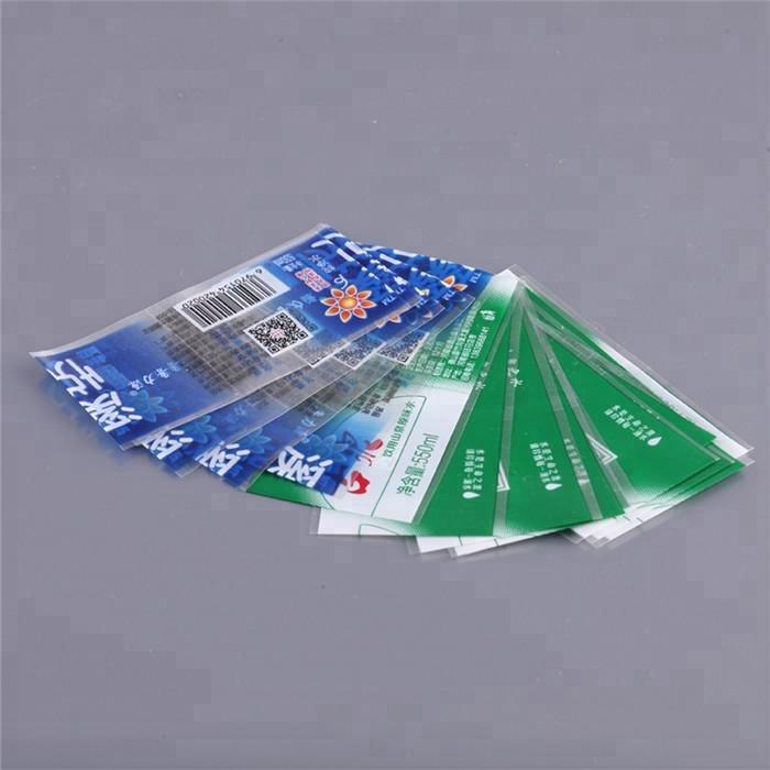 Kustom Dicetak Dicetak PVC Panas Penghilang Lengan Film Label