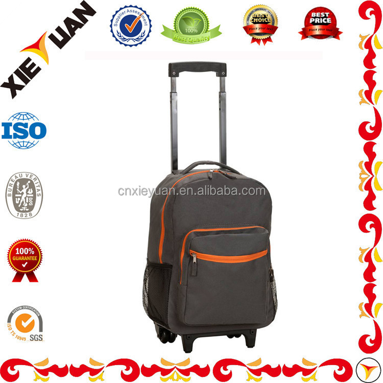 FashioableTrolley Laptop Backpack Rolling Backpack 17-inch Carry On Luggage