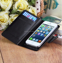 Universal PU Leather Wallet Flip Case Cover for 4.5 Inch Phone