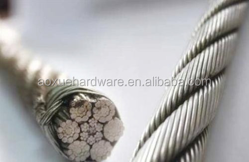 stainless steel wire rope for crane,SS Cable for crane rope