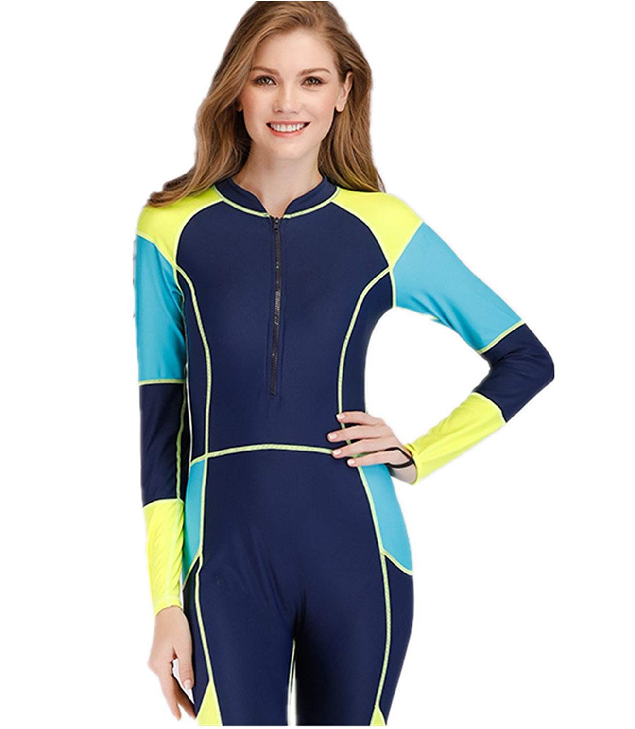 CaptainSwim Mens One piece Swimwear Full Cover Wetsuits