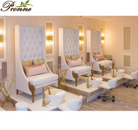 French style comfort foot spa white pedicure chair beauty salon