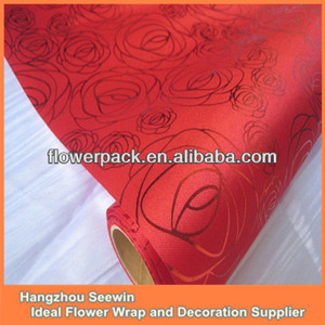 Printed Satin Rose Table Cloth For Valentines' Day