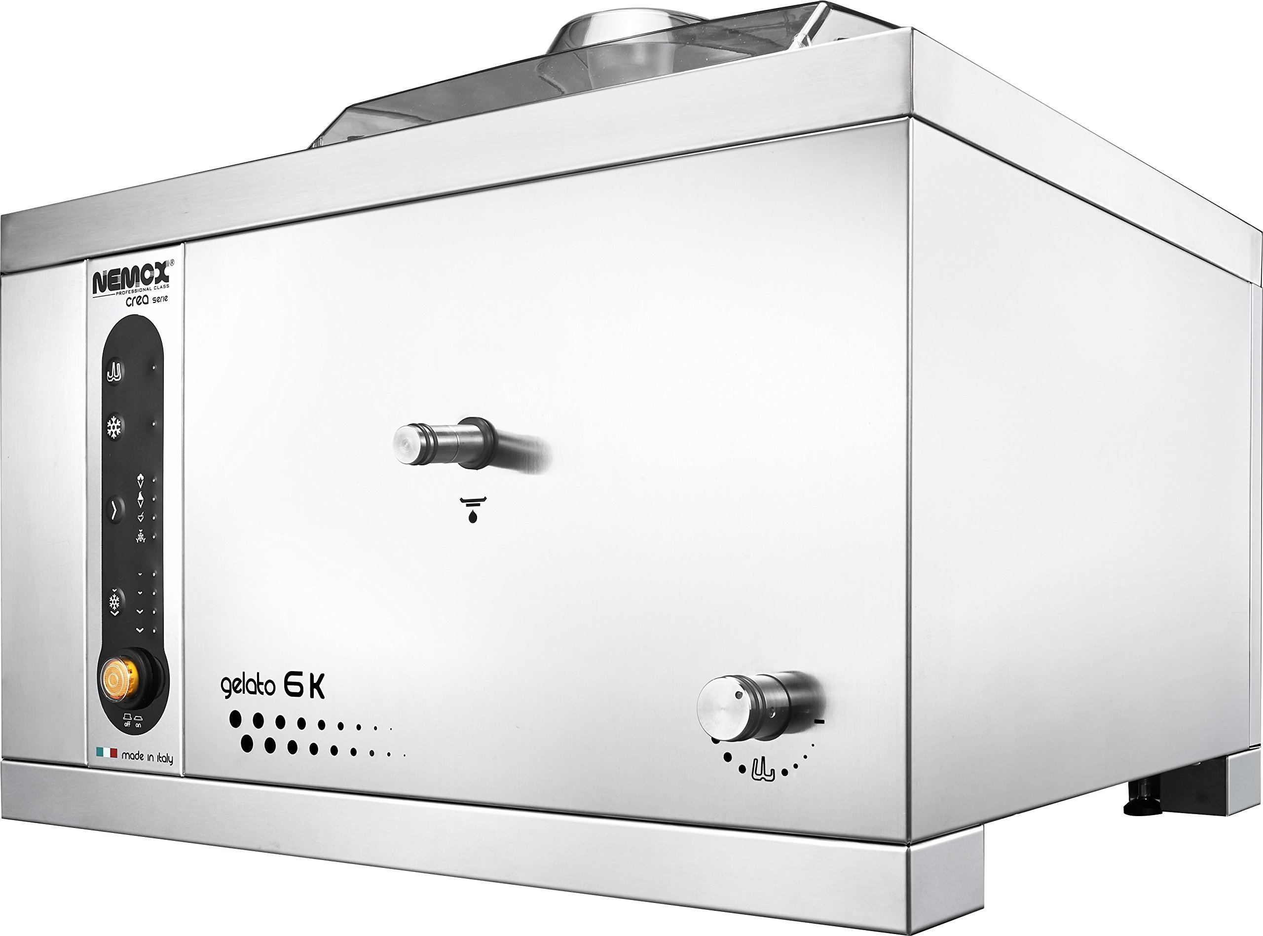 """Nemox Pro 6K Crea Fully Automatic Commercial Tabletop Gelato/Ice Cream Maker with Conservation, 20.9"""" Length"""