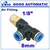 f connector 1/8 8mm brass pneumatic fittings