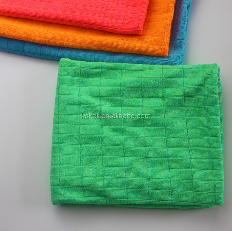 Cheap microfiber cloth in bulk weft knitting towel