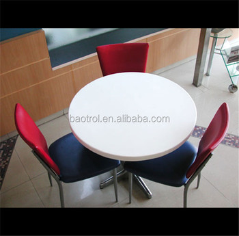 Cheap Price Outdoor Dinner Table Tops Restaurant Round Table Tops - Corian restaurant table tops