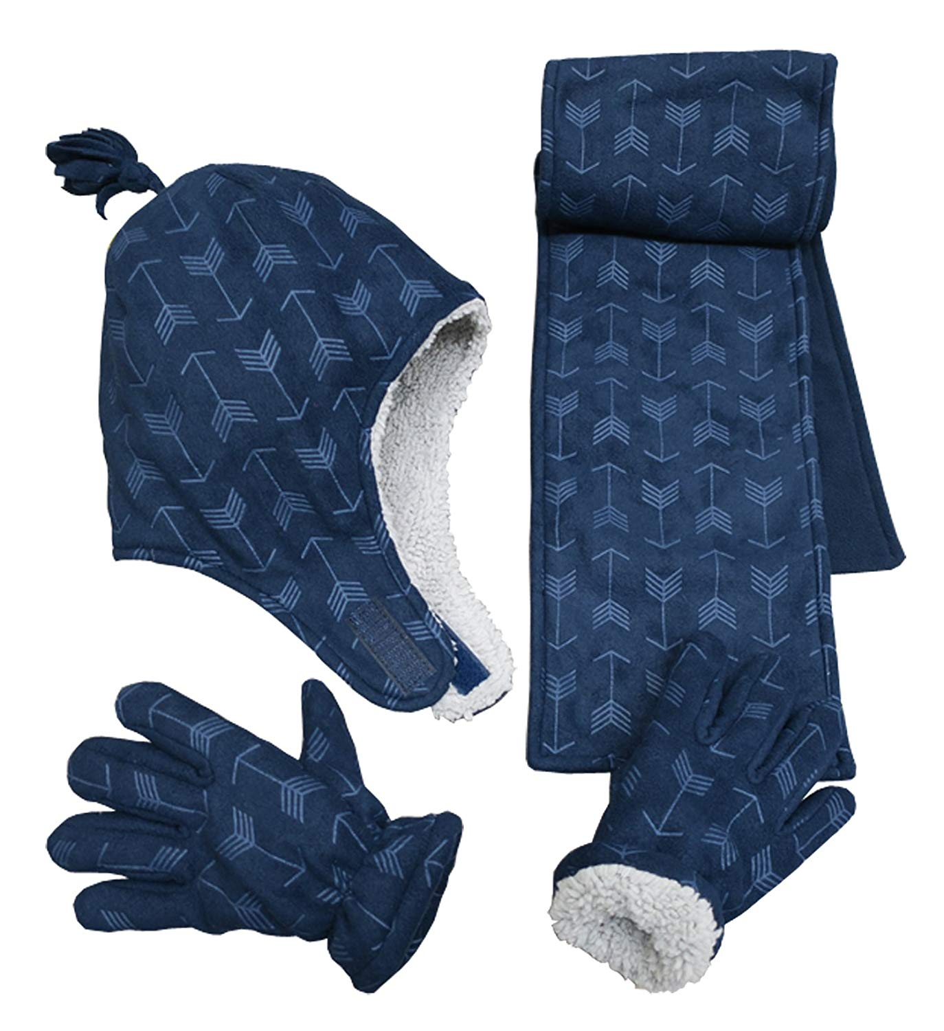 Grand Sierra Kids Thinsulate Gloves Navy Boys 13-18
