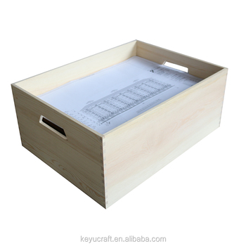Office A3 A4 Paper Wooden Storage Trays Magazine Book Toy